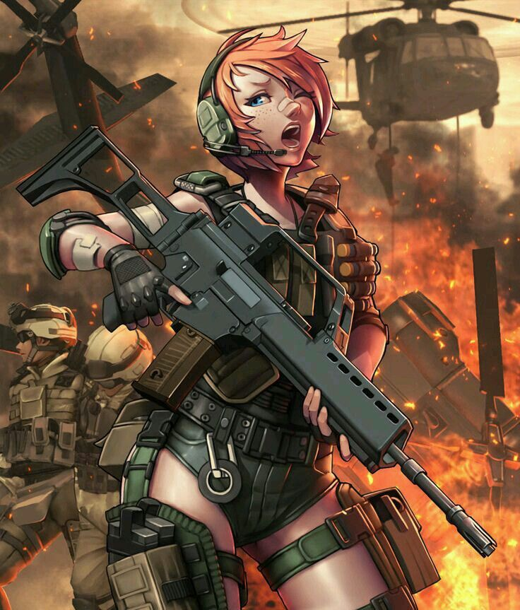 soldier Female anime
