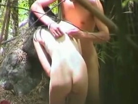 couple Outdoor asian wife