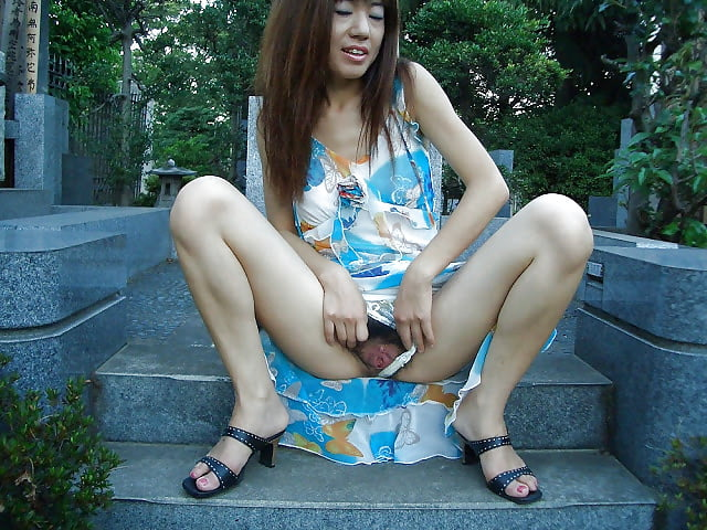 wife outdoor asian Blonde