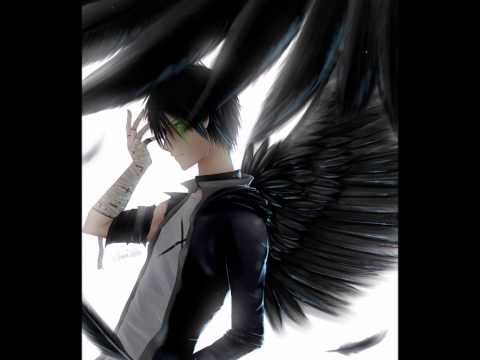 with wings black angel male Anime