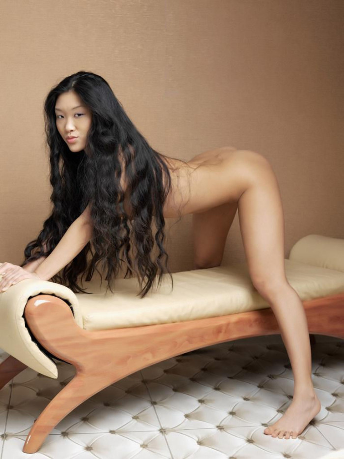 pussy Chinese hair long black