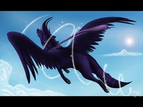 with Anime wings wolf