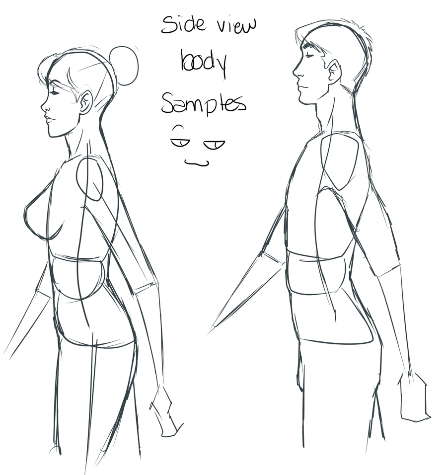 side Anime view male