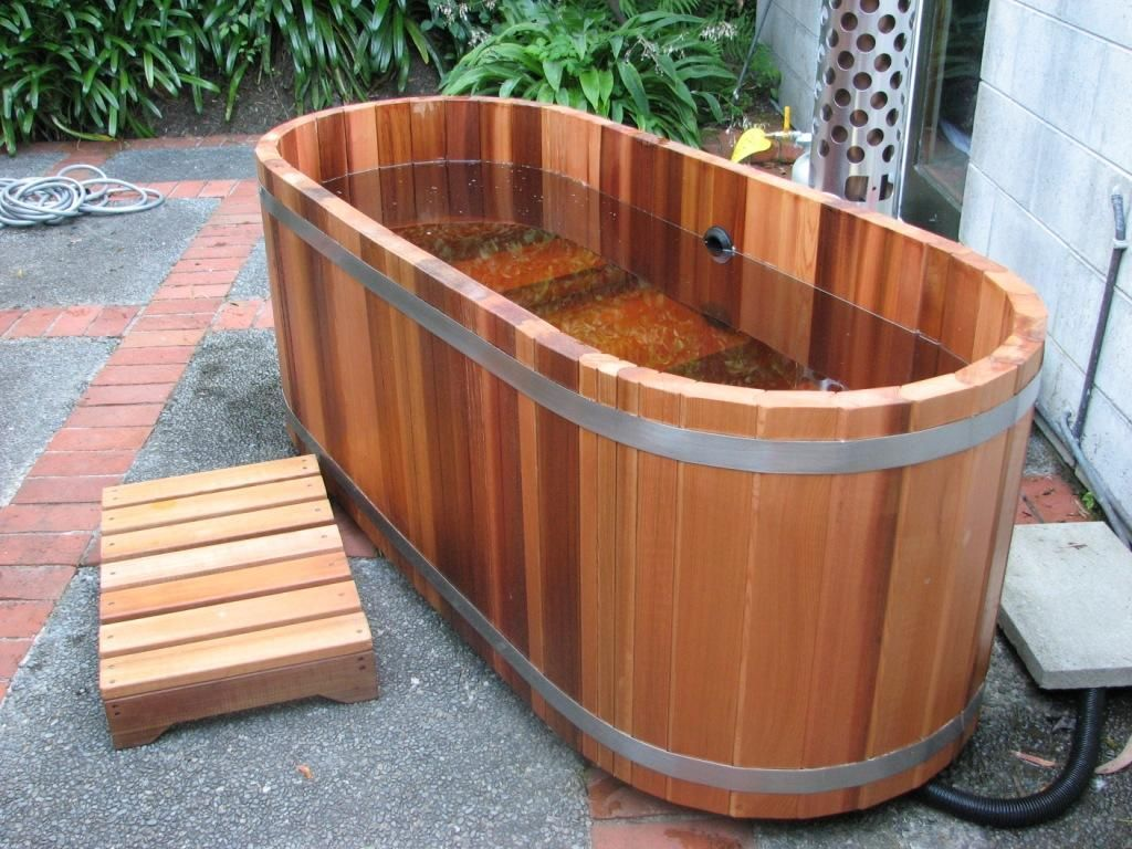 Asian outdoor sink tub