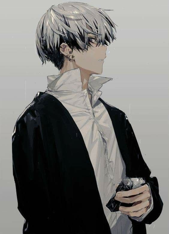 haired anime guys Silver