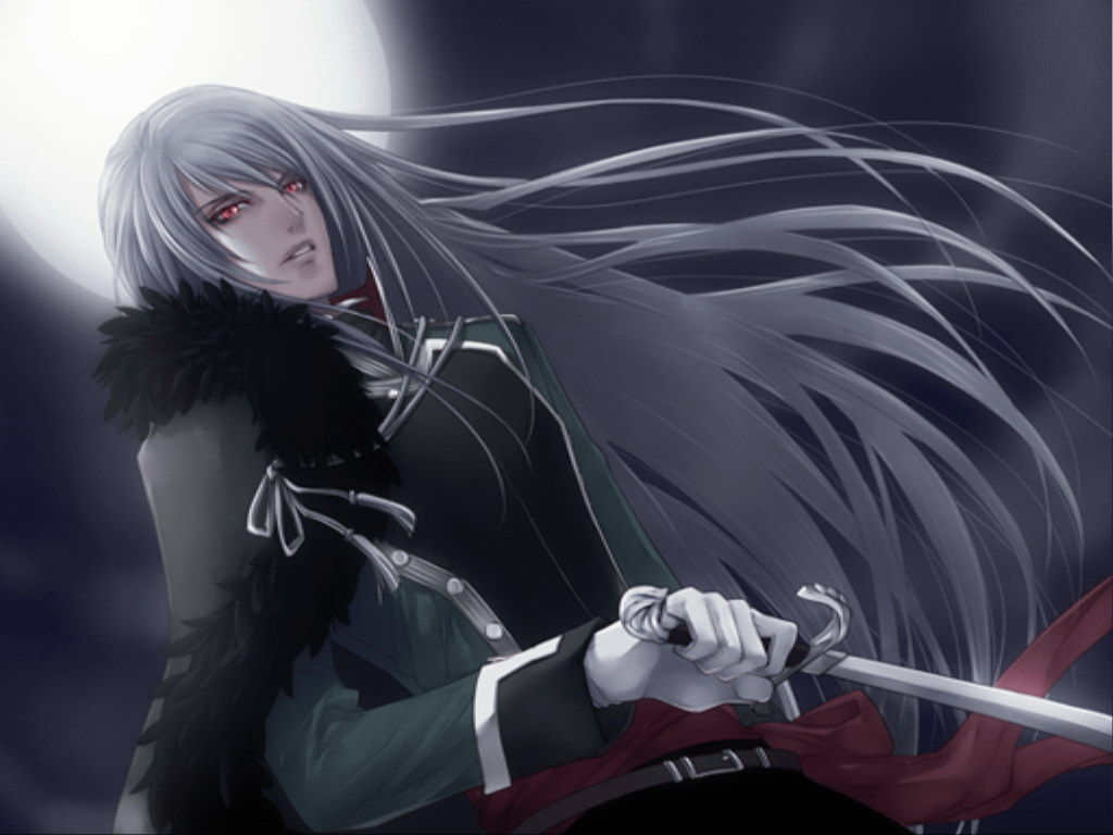 red long hair with guy Anime