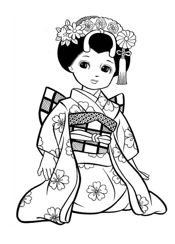 Chinese colouring pages for adults