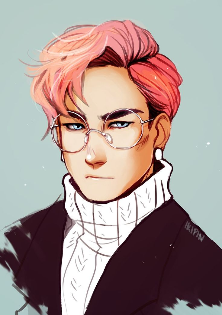 anime Pink boys haired